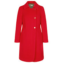 Buy Precis Petite Asymmetric Coat, Scarlet Online at johnlewis.com