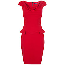 Buy Closet Faux Pocket Cowl Neck Dress, Red Online at johnlewis.com
