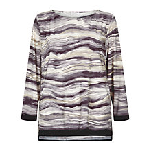 Buy Windsmoor Marble Print Jersey Tunic, Stone Online at johnlewis.com
