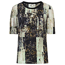 Buy Whistles Olivia Rock Print Silk Top, Multi Online at johnlewis.com