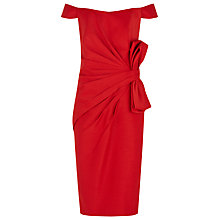 Buy Jacques Vert Lorcan Mullany Shantung Bow Dress, Red Online at johnlewis.com