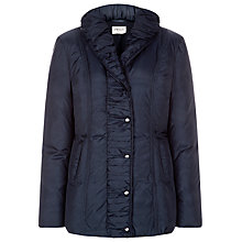 Buy Precis Petite Mid Length Ruched Coat, Navy Online at johnlewis.com