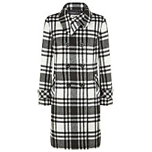 Buy Precis Petite Check Wool Coat, Multi Dark Online at johnlewis.com