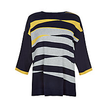 Buy Windsmoor Graphic Sweater, Navy Online at johnlewis.com