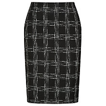 Buy Precis Petite Textured Check Skirt, Multi Dark Online at johnlewis.com