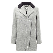 Buy Whistles Eliot Biker Coat, Grey Online at johnlewis.com