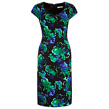 Buy Jacques Vert Blurred Floral Dress, Multi Online at johnlewis.com