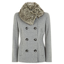 Buy Precis Petite Short Wool Coat, Silver Online at johnlewis.com