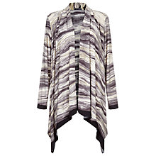 Buy Windsmoor Marble Print Jersey Cardigan, Stone Online at johnlewis.com