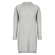 Buy Whistles Rib Front Wool Cashmere Dress, Pale Grey Online at johnlewis.com
