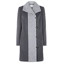 Buy Windsmoor Contrast Toggle Coat, Smoke Grey Online at johnlewis.com