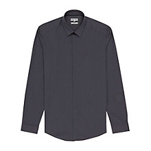 Buy Reiss Garcon Gingham Check Fly Front Shirt, Navy Online at johnlewis.com