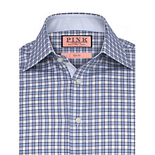 Buy Thomas Pink Vencourt Check Slim Fit Shirt, White/Blue Online at johnlewis.com