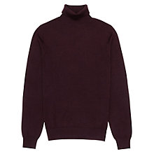 Buy Reiss Crow Wool Roll Neck Jumper, Burgundy Online at johnlewis.com