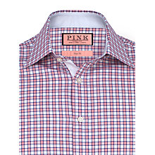 Buy Thomas Pink Vencourt Check Slim Fit Shirt, White/Red Online at johnlewis.com