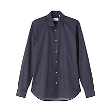 Buy Jigsaw Micro Spot Slim Formal Shirt, Navy Online at johnlewis.com
