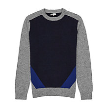 Buy Reiss Windsor Block Colour Jumper, Blue Online at johnlewis.com
