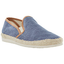 Buy Bertie Franklyn Washed Canvas Espadrilles, Navy Online at johnlewis.com