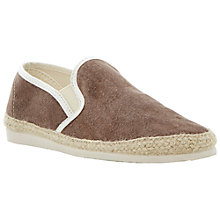 Buy Bertie Franklyn Washed Canvas Espadrilles, Brown Online at johnlewis.com
