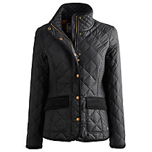 Buy Joules Moredale Quilted Jacket, Black Online at johnlewis.com