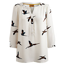 Buy Joules Leticia Blouse, Cream Pheasant Online at johnlewis.com