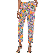 Buy Lauren Ralph Lauren Paisley Skinny Trousers, Orange Multi Online at johnlewis.com