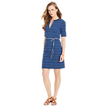 Buy Lauren Ralph Lauren Hoana Henley Dress, Blue Multi Online at johnlewis.com