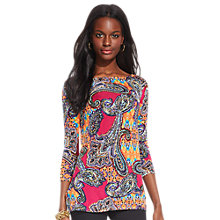 Buy Lauren Ralph Lauren Matsu Tunic Top, Pink Multi Online at johnlewis.com