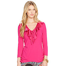 Buy Lauren Ralph Lauren Frill Collar Top Online at johnlewis.com