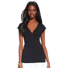 Buy Lauren Ralph Lauren Joanna Faux Wrap Top Online at johnlewis.com