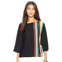 Buy Lauren by Ralph Lauren Ranjani Top, Black Multi Online at johnlewis.com