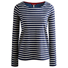 Buy Joules Pia Jersey Top, Dark Indigo Stripe Online at johnlewis.com