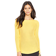 Buy Lauren Ralph Lauren Knit Jumper, Yellow Online at johnlewis.com