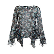 Buy Miss Selfridge Paisley Floral Blouse, Assorted Online at johnlewis.com