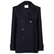 Buy L.K. Bennett Tours Double Breasted Peacoat, Dark Navy Online at johnlewis.com