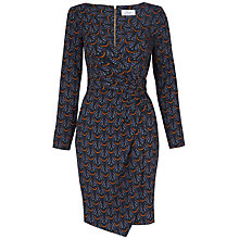Buy Closet Print Wrap Drape Dress, Multi Online at johnlewis.com