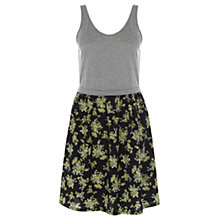 Buy Warehouse Two For Print Dress, Black Pattern Online at johnlewis.com