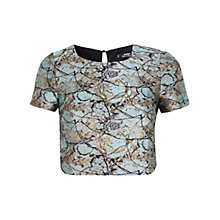 Buy Miss Selfridge Petite Jacquard Petite Top Online at johnlewis.com