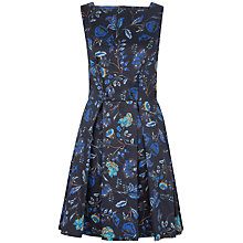 Buy Closet Print Button Back Full Dress, Blue Online at johnlewis.com