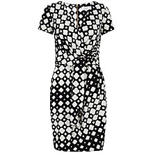 Buy Closet Cloud Print Wrap Tie Front Dress, Black and White Online at johnlewis.com
