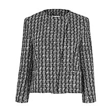Buy L.K. Bennett Maria Tweed Jacket, White Online at johnlewis.com