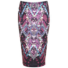Buy Miss Selfridge Aztec Floral Pencil, Multi Online at johnlewis.com