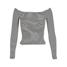 Buy Miss Selfridge Stripe Bardot Top Online at johnlewis.com