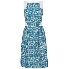 Buy Almari Jacquard Lace Back Full Dress, Teal Online at johnlewis.com