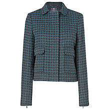 Buy L.K. Bennett Selene Dogtooth Jacket, Navy Online at johnlewis.com