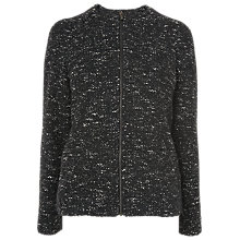 Buy L.K. Bennett Samoa Tweed Jacket,  Black/Tweed Online at johnlewis.com