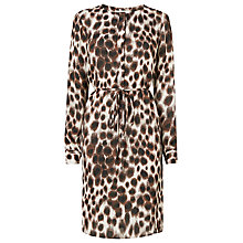 Buy L.K. Bennett Sade Animal Print Day Dress, Toffee Online at johnlewis.com