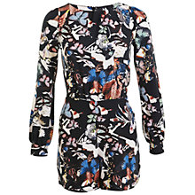 Buy Miss Selfridge Butterfly Print Playsuit, Multi Online at johnlewis.com
