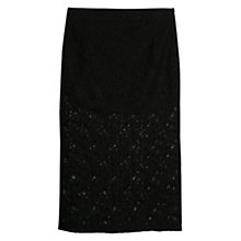 Buy Mango Lace Long Skirt, Black Online at johnlewis.com