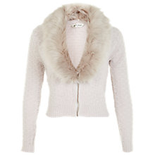 Buy Miss Selfridge Fur Collar Short Cardigan Online at johnlewis.com